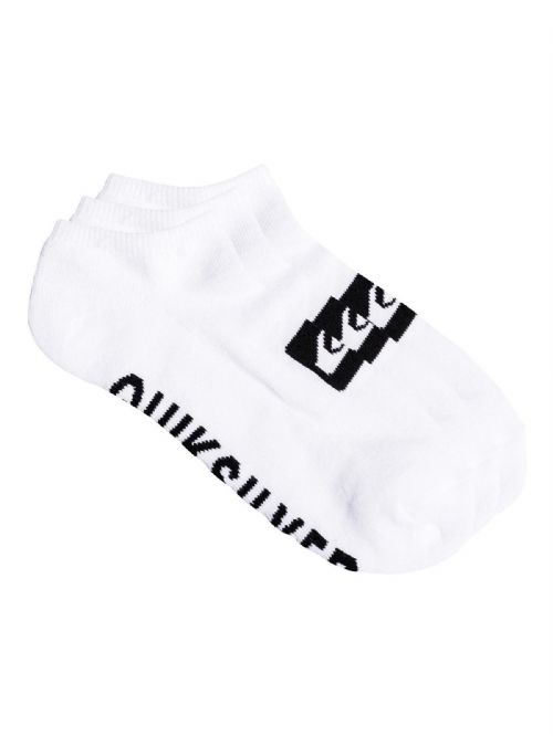 QUIKSILVER MENS SOCKS.NEW 3 PACK TRAINER ANKLE SPORTS WHITE UK 6 - 11 8W 667 WB